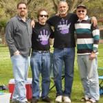 David Coleman, Robert Saunders, Donald Tenn and Fred Hayward at Sacramento's William Land Park F4J-meeting